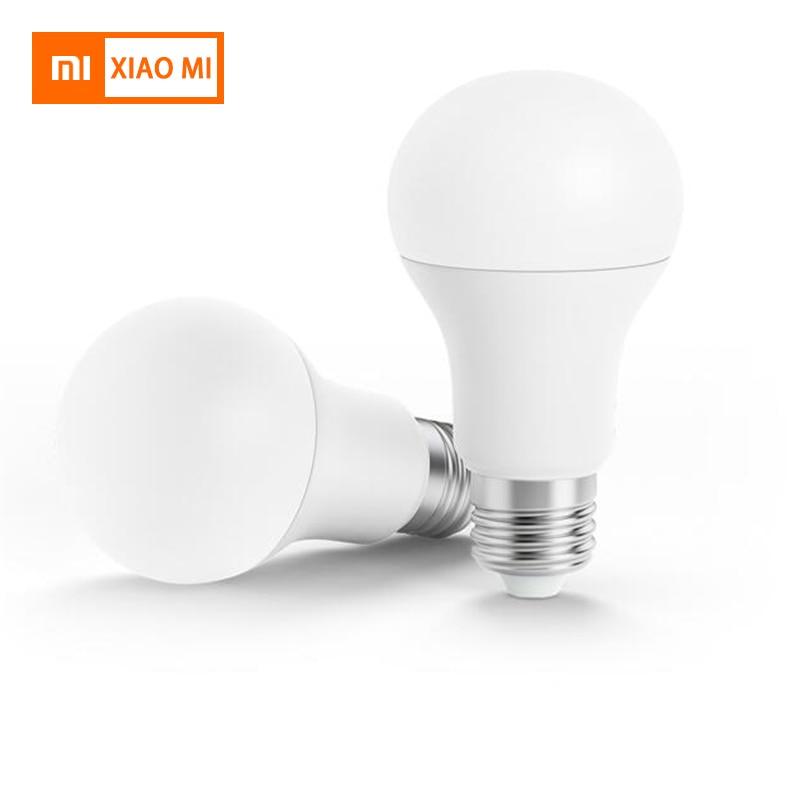 Smart LED Bulb Original Xiaomi Mi Smart LED Bulb Wifi Remote Control Adjustable Brightness Eyecare Light Smart Bulb WHITE COLOR