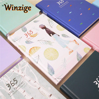 Creative Hardcover Year Plan Notebook 365 Days Inner Pages Monthly Daily Planner Organizer Office School Schedule