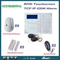 2016 Лидер продаж 868 мГц ST VGT meiantech tcp/ip Ethernet (RJ45 порт) GSM GPRS Охранной Сигнализации Системы, android IPhone приложение Управление