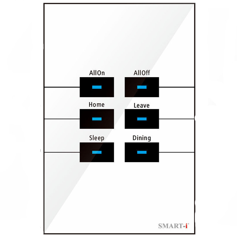 Smart i EU/UK/US Standard Wireless 6 Gang Wall Light Theme