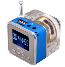 Здесь можно купить  Mini Portable LCD MP3 Player usb mp3 module Speaker Loud Subwoofer Music Player Support TF Card USB With FM Radio