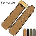 25*19 мм Силиконовой Резины Ремешок Ремень Ремешок Для HUBLO Big Band T Часы с Логотипом Развертывания Застежка двойной Толчок Пряжки