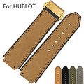 25*19mm Silicone Rubber Watch Strap Belt  Watchband For HUBLO Big Band T Watch with Logo Deployment Clasp Double Push Buckle