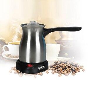 Image 2 - 스테인레스 스틸 커피 머신 터키 커피 메이커 800W 전기 커피 주전자 삶은 우유 커피 주전자 선물 220V Sonifer