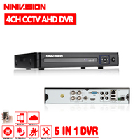 4CH AHD DVR 1080N for Analog HD CCTV AHD Camera 4Channel Network IP Camara Multilanguage Support 3G Wifi HDMI 1080P DVR Recorder