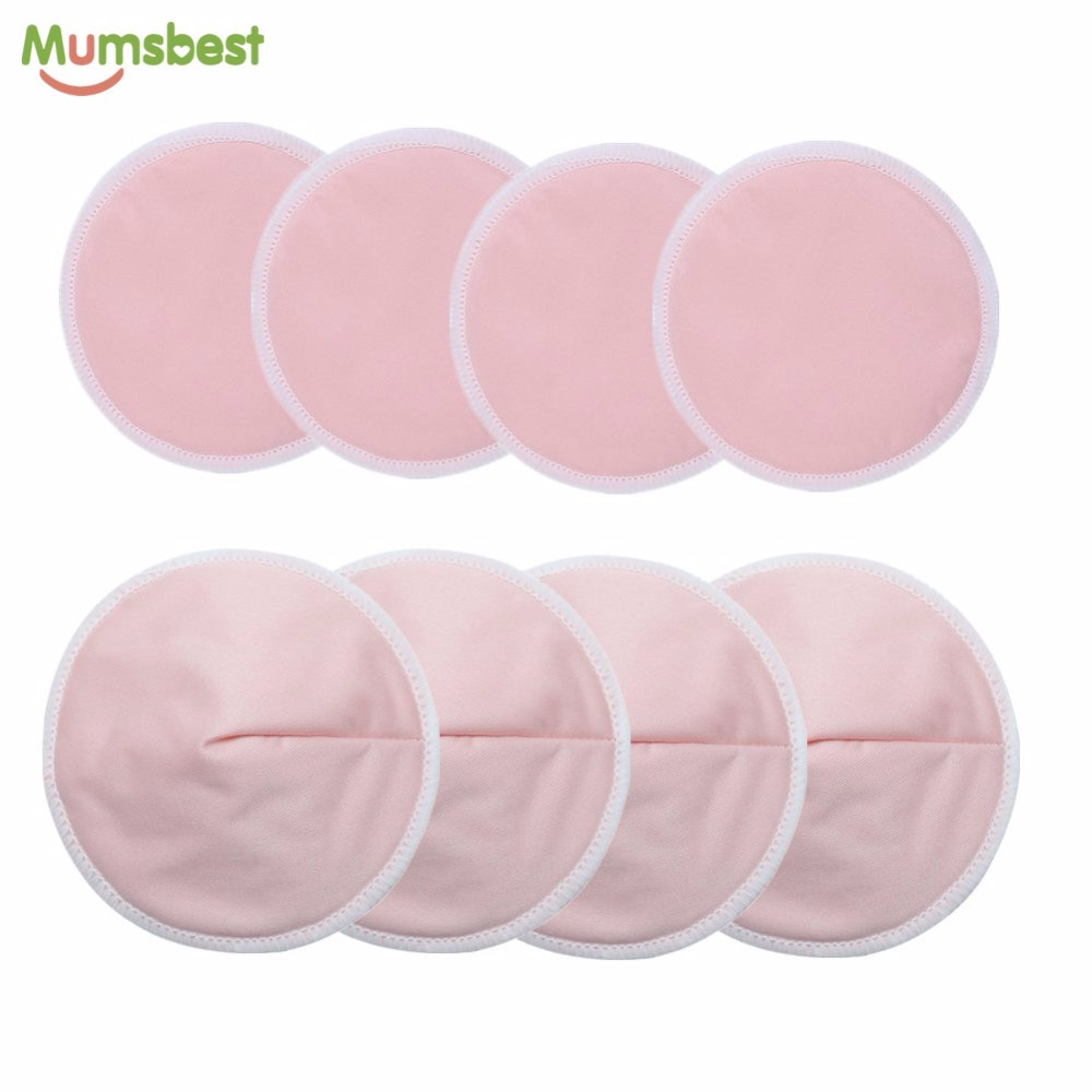 [Mumsbest] 8 Pcs Reusable Bamboo Breast Pad Nursing Pads For Mum Washable Waterproof Pregnant 12cm Wholesale Factory Nursing Pad
