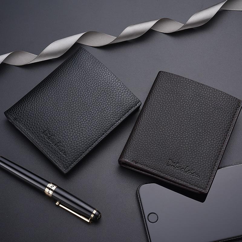 Purse Wallet Credit-Card Thin Slim Small Mini High-Quality Cute Luxury Short Men