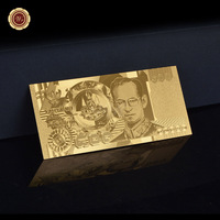 Metal Gold Plated Banknote Thailand 500 Baht Made In China Metal Pure Gold Banknote For Value Collection
