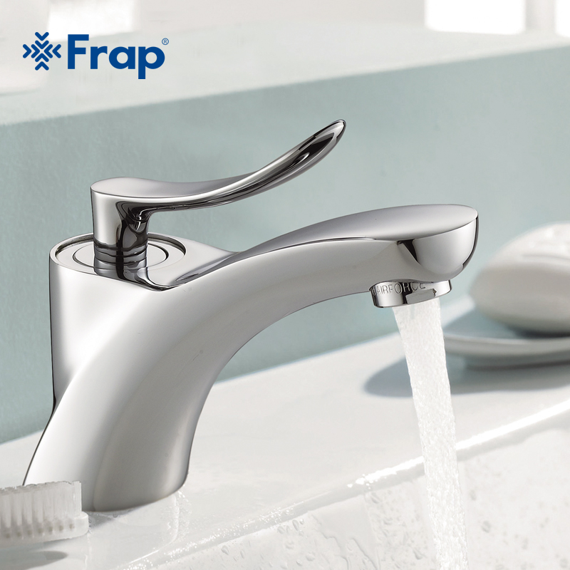 FRAP Classic Style chrome bathroom Basin sink Faucet Cold and Hot Water Mixer Single Handle bath room Taps F1081