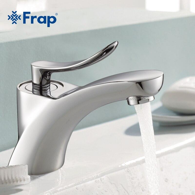 Frap классический Стиль Chrome ванной бассейна раковина кран холодной и горячей воды смеситель Одной ручкой Ванная комната краны f1081