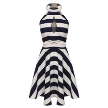 Summer Striped Dress Swing Party