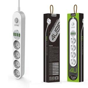 Image 5 - Мощность полосы ЕС плагин для настенного множественный разъем Порты и разъёмы в состоянии 4 розетки 4 USB Порты и разъёмы для мобильных телефонов смартфонов Планшеты сетевой фильтр