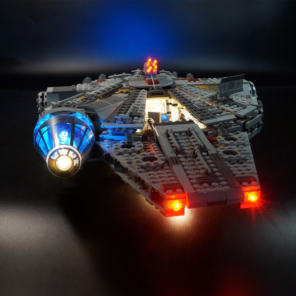 Fuerza Bloques Para La Despertar Kit Falcon 75105 Led De Millennium El Luz Lego Wars Star K5luc3TFJ1