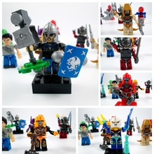 3 bags Remove the bulk DIY puzzle assembly modular plastic toy doll doll soldier swordsman with