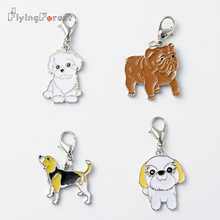 Pug-Bag Charms-Accessories Chow Chow Sharpei Lucky-Pendant Cute for 5pcs/Lot Pet-Dog
