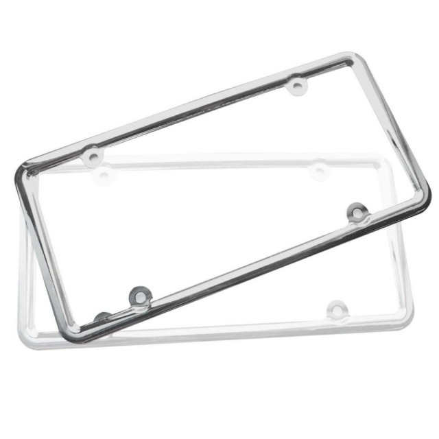 Professional License Plate Frame Chrome Stainless Steel Metal Mount Bracket Frames For Us Standard