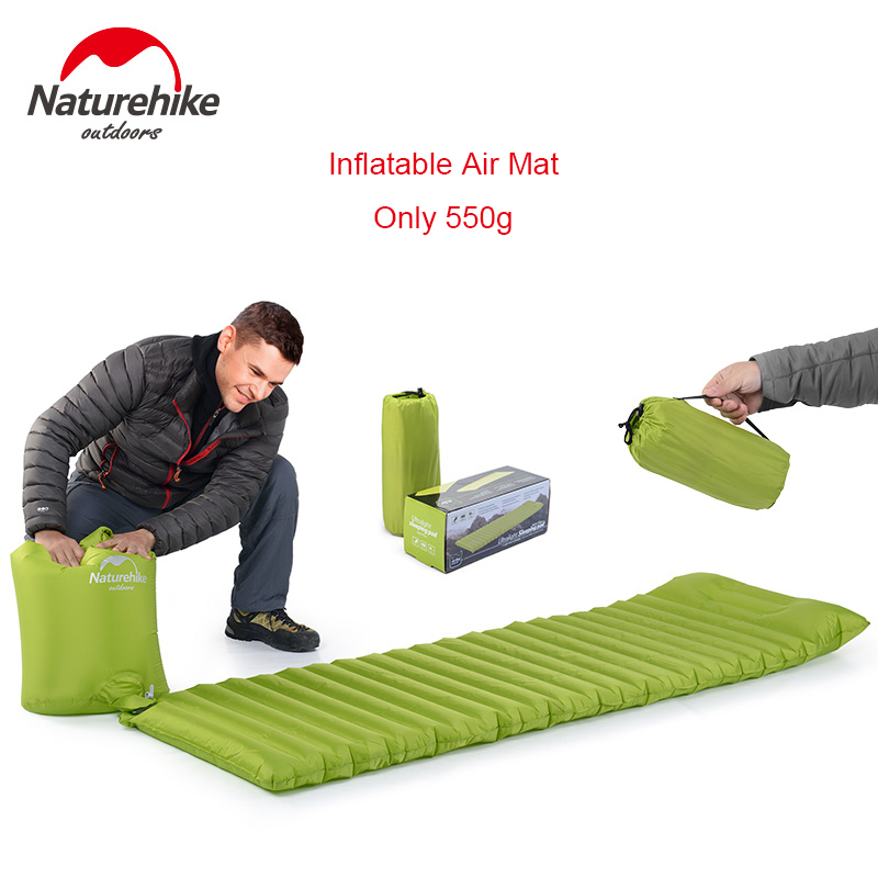 Naturehike Ultralight Outdoor Air Mattress Moistureproof Inflatable Air Mat With TPU Camping Bed Tent Camping Mat Sleeping Pad betos car air mattress travel bed auto back seat cover inflatable mattress air bed good quality inflatable car bed for camping