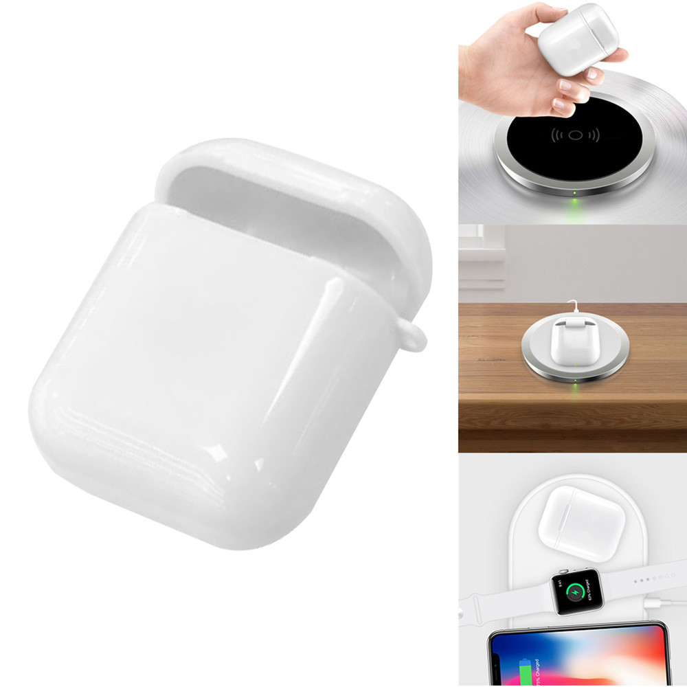 Charging Cover For Apple Airpods Charging CaseQi Wireless Charger Receiver Charging Cover Case AU.30Charging Cover For Apple Airpods Charging CaseQi Wireless Charger Receiver Charging Cover Case AU.30
