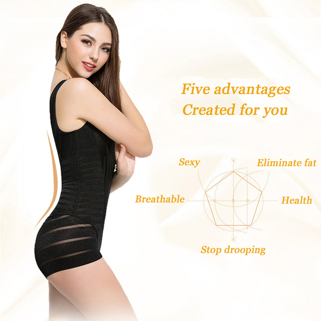 f7542a74268 Womens Full Body Shapewear Anion Shaping Underwear Shaper Woman Bodysuits Clothes  Corset Slimming Weight Loss Reductive Strip