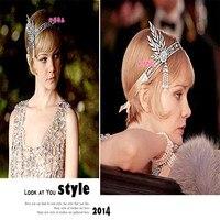 Moda de europa y América adornos tocado de la novia de la boda vestido de accesorios de cabello