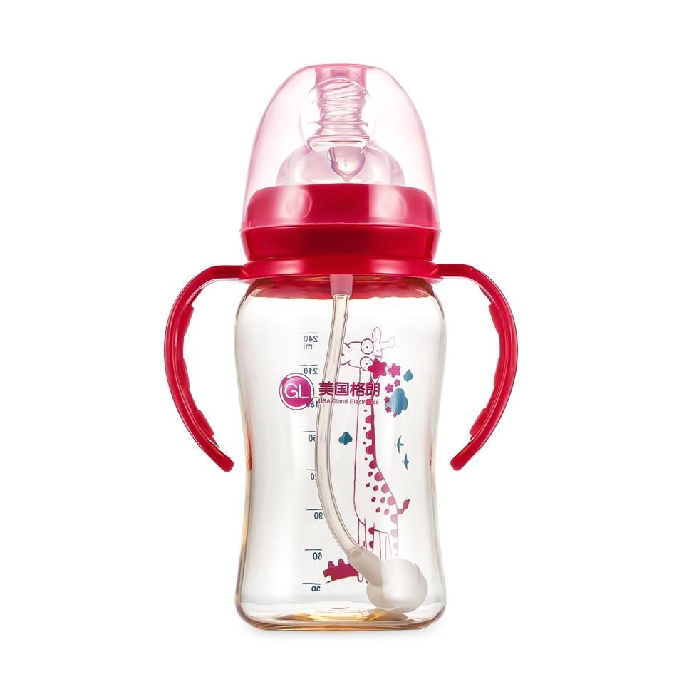 GL BPA gratis babyvoeding melkfles 240ml zuigermelk waterfles Hoge - Voeden - Foto 2