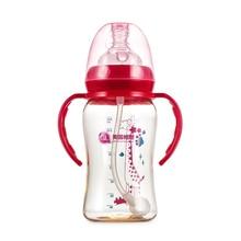 जीएल बीपीए फ्री बेबी फीडिंग मिल्क बोतल 240 मिलीलीटर शिशु दूध जल बोतल उच्च गुणवत्ता Garrafa नर्सिंग बेबी पानी की बोतल