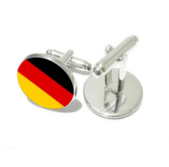 National Emblem Cufflinks Germany/France/Russia/Brazil National Emblem Flag Cuff Links Cuff Button Men's Jewelry Party 20pairs-in Tie Clips & Cufflinks from Jewelry & Accessories    2