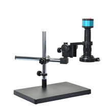 2.0MP VGA AV Industry Digital Microscope Camera+180X Zoon C-MOUNT Lens+Big Stand Universal Bracket+144 LED Light for Lab