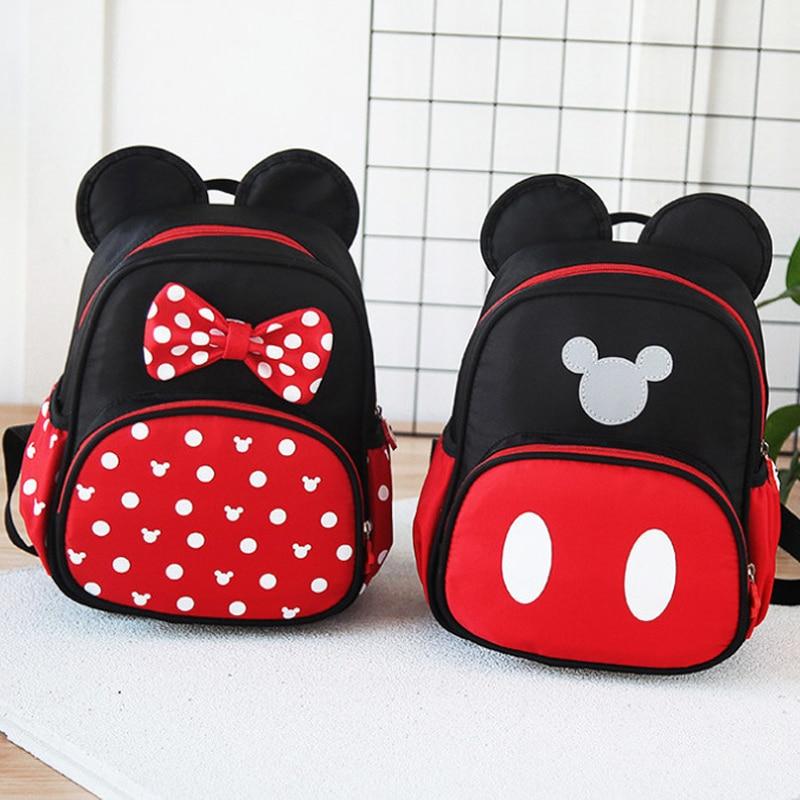 Kids Cartoon School Bags Cute Mickey Mouse Printed Backpacks Rucksack Boys Girls
