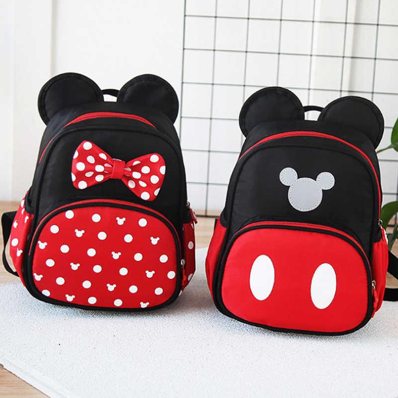 9fd651b91e7c 2019 Disney Kids Backpack New Mickey Mouse School-Bag Children Girls Boys  Backpacks Polyester Cute Cartoon Kindergarten Bags