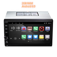 Universal 2 Double Din Android 6.0 Car Multimedia Player Audio MP3 Car Video Player GPS AM RDS FM Radio Bluetooth 2GB RAM 7 Inch
