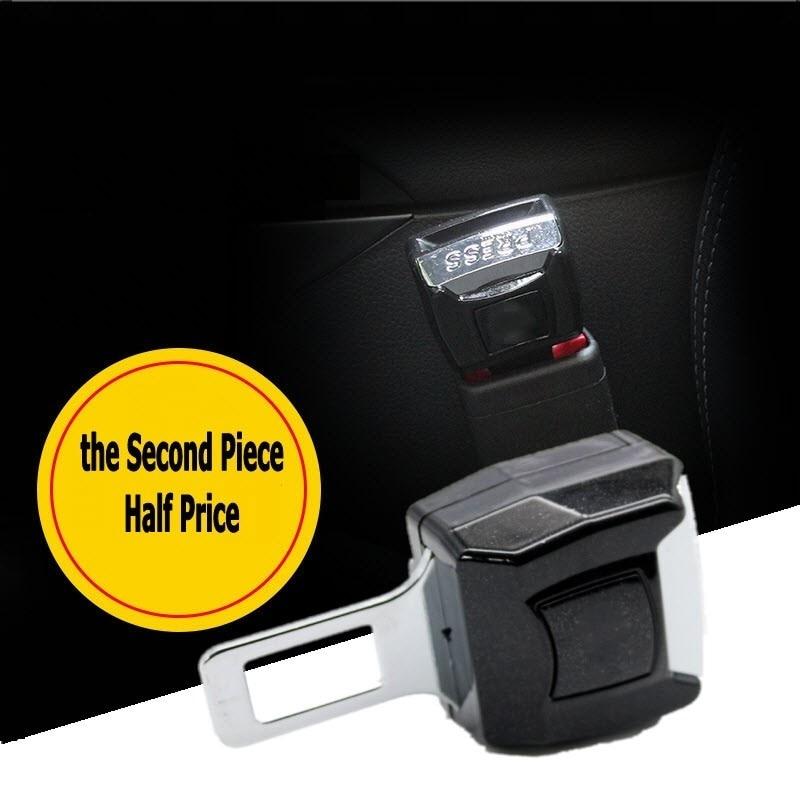 Car Logo Vehicle Seat Belt Extension Extender Strap Safety Buckle Clip for Honda Subaru Peugeot Hyundai Jeep Mazda Buick Opel
