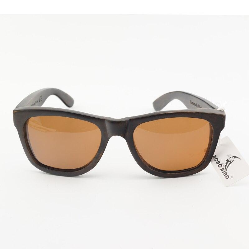 BOBO OISEAU WAG005b 100% Nature Ébène En Bois Lunettes De Soleil Polarisées  Unisexe Lunettes de Soleil Homme oculos de sol feminino Mode Accessoire  dans ... 12a008a9429f