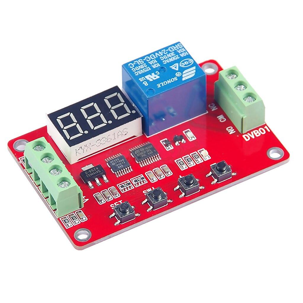 DC 5V, 12V, 24V Digital Voltage Comparator Voltage Tester Monitor Charge Discharge Overvoltage Undervoltage Overload Protection 2 pin thermal overload protection