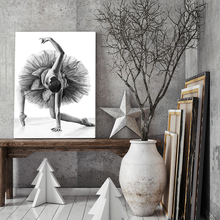 Elegant Poetry Simple Fashion Ballet Girl Dancer Canvas Painting Art Print Poster Picture Wall Modern Home Decor