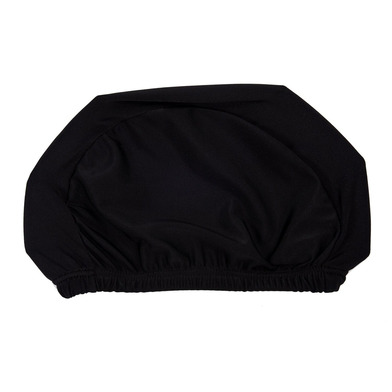 2x New Swimming Hats Elastic Waterproof PU Fabric Protect Ears Long Hair Sports Swim Pool Hat Swimming Cap for Children