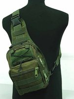 Tactical Molle Utility Gear Shoulder Sling Bag OD S Free Ship