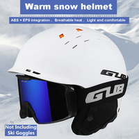 GUB Adults Portable EPS Integrally molded Thermal 10 Holes Ski Snowboard Helmets Outdoor Sportswear Safety Equipment 58 60 cm