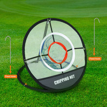 BOBLOV PGM Golf Pop UP Indoor Outdoor Chipping Pitching Cages Mats Practice Easy Net Training Aids Metal +