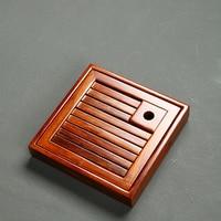 Drinkware 2017 square natural wood tea tray wood tea board kung fu tea tray table accessories