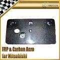 Car Styling For Mitsubishi Evolution EVO 9 Carbon Fiber Licence Plate Holder