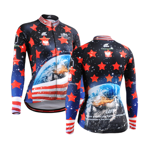 2017 Cycling Jersey Bicycle Riding Team Made New Jersey Tight Polyester Cycling Professional Long Sleeve Cycling Jerseys