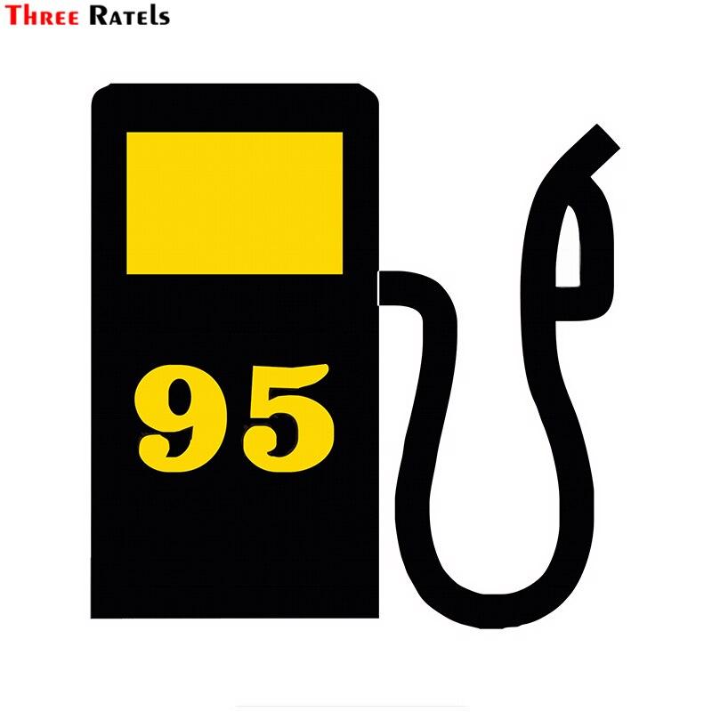 Three Ratels TZ-1796#  15x15cm Gasoline Petrol Ai-95 Car Stickers Funny Car Sticker Auto Decals