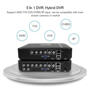 Image 2 - 4 Channel AHD Mini DVR Video Recorder Surveillance Security CCTV NVR 720P/8CH 1080N Hybrid DVR For Analog AHD ONVIF IpCam WiFi