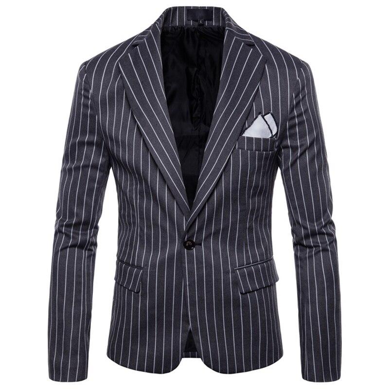 Blazers Hommes 2018 Marque De Mode Unique Bouton Costume Veste Coton Slim  Fit Hommes Bande Costume Manteaux Affaires De Mariage Plus La Taille 4XL 7e0f353815fc