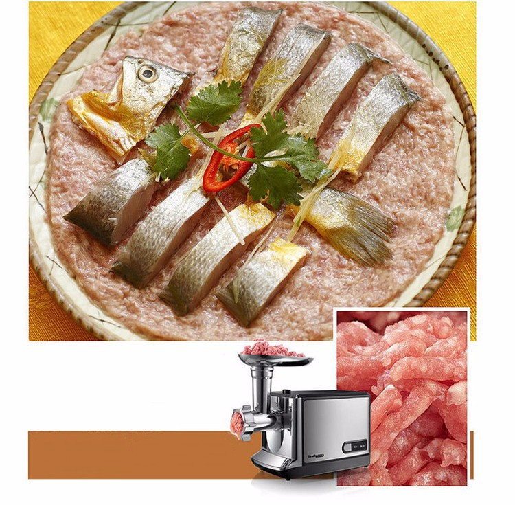 household meat grinder electric meat slicer cutter stainless steel automatic sausage filler vegetable mincer chopper machine цена 2017
