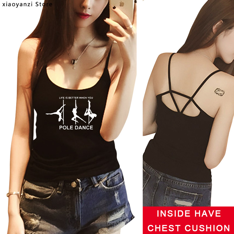 Pole Dance Printed Womens Tee Shirt Modal   Tank     Top   Funny Camisoles for Women Casual Tee Shirts   Tanks   Summer   Tops   EUU574