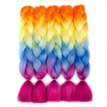 Aigemei Плетеные наращивания волос Синтетические Kanekalon Ombre Jumbo Braids 24inch 100g / pcs Вязание крючком Твистские планки Afirican Hairstyle