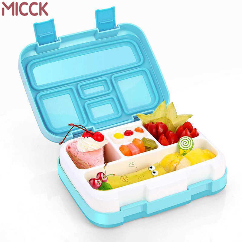 MICCK BPA Free Lunch Box For Kids With Compartment Microwavable Cartoon Bento Box Leakproof Food Container Lunchbox For Picnic