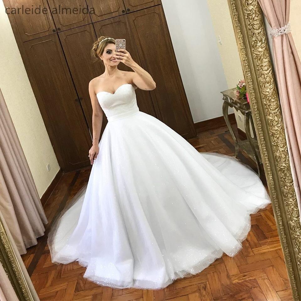 Vestido De Noiva Sweetheart Ball Gown Princess Wedding